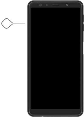 Samsung Galaxy A7 2018 - Premiers pas - Insérer la carte SIM - Étape 2