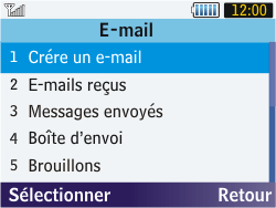 Samsung S3570 Chat 357 - E-mail - Envoi d