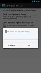 Wiko Darkmoon - SMS - Como configurar o centro de mensagens -  8