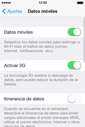 Apple iPhone 4S iOS 7 - Red - Seleccionar el tipo de red - Paso 4