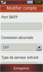 Samsung S5230 Star - E-mail - Configuration manuelle - Étape 9