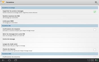 Samsung P7500 Galaxy Tab 10-1 - SMS - configuration manuelle - Étape 5