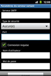 Samsung S7500 Galaxy Ace Plus - E-mail - Configuration manuelle - Étape 12