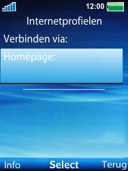Sony Ericsson W100i Spiro - Internet - handmatig instellen - Stap 12