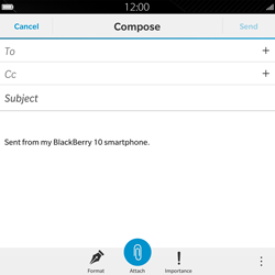 BlackBerry Passport - Email - Sending an email message - Step 7