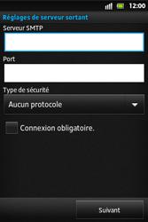 Sony ST27i Xperia Go - E-mail - Configuration manuelle - Étape 12