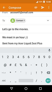 Acer Liquid Zest 4G Plus - E-mail - Sending emails - Step 9