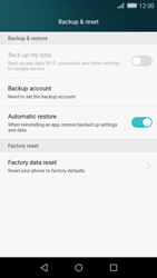 Huawei P8 Lite - Device - Reset to factory settings - Step 5