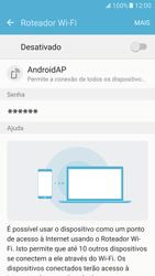 Samsung Galaxy S7 - Wi-Fi - Como usar seu aparelho como um roteador de rede wi-fi - Etapa 7