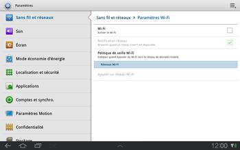 Samsung P7500 Galaxy Tab 10-1 - Wifi - configuration manuelle - Étape 4