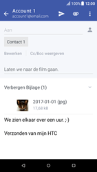 HTC One A9 - Android Nougat - E-mail - Bericht met attachment versturen - Stap 20