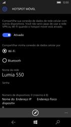 Microsoft Lumia 550 - Wi-Fi - Como usar seu aparelho como um roteador de rede wi-fi - Etapa 7