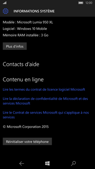 Microsoft Lumia 950 XL - Device maintenance - Retour aux réglages usine - Étape 7