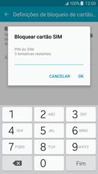 Samsung Galaxy J5 - Segurança - Como ativar o código PIN do cartão de telemóvel -  8