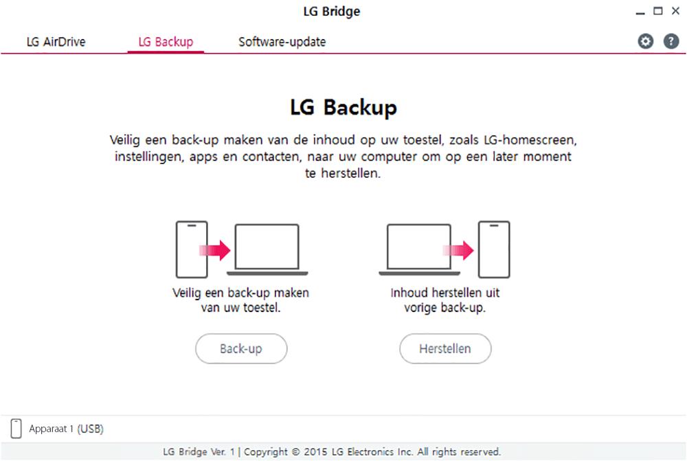 LG K10 (2017) - Software - Backup maken van je toestel - Stap 8