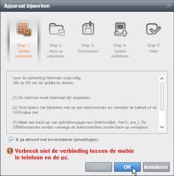 Samsung B7610 Omnia Qwerty - Software - Update installeren via PC - Stap 5