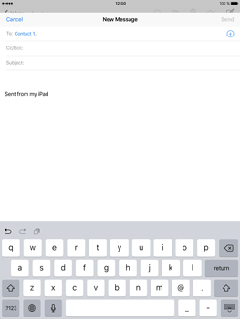 Apple iPad Pro (9.7) - Email - Sending an email message - Step 6