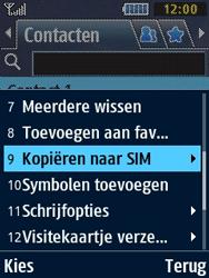 Samsung B2710 Xcover 271 - Contacten en data - Contacten kopiëren van toestel naar SIM - Stap 5