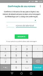 Huawei Y6 (2017) - Aplicações - Como configurar o WhatsApp -  9