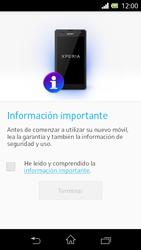 Sony Xperia L - Primeros pasos - Activar el equipo - Paso 3