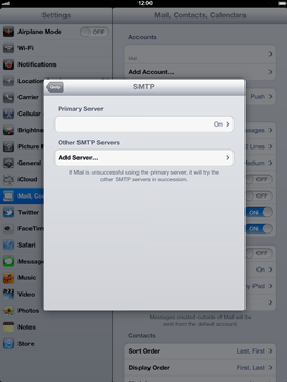 Apple The New iPad - E-mail - Manual configuration - Step 16