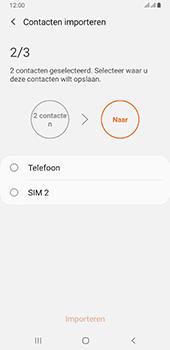 Samsung galaxy-a6-plus-sm-a605fn-ds-android-pie - Contacten en data - Contacten kopiëren van SIM naar toestel - Stap 11