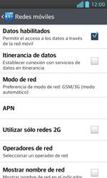 LG Optimus L5 II - Red - Seleccionar el tipo de red - Paso 6