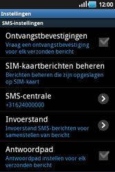 Samsung S5660 Galaxy Gio - SMS - Handmatig instellen - Stap 4