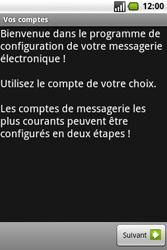 Samsung I7500 Galaxy - E-mail - Configurer l