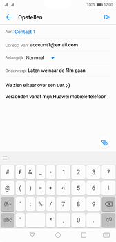 Huawei P20 Dual-SIM (Model EML-L29) - E-mail - Bericht met attachment versturen - Stap 9