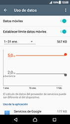 Sony Xperia XZ (F8331) - Internet - Ver uso de datos - Paso 11