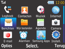 Samsung S3570 Chat 357 - Voicemail - Handmatig instellen - Stap 3