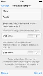Apple iPhone 5s - Applications - Créer un compte - Étape 16