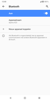 Sony Xperia XZ3 - Bluetooth - headset, carkit verbinding - Stap 8