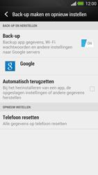 HTC One - Instellingen aanpassen - Fabrieksinstellingen terugzetten - Stap 5