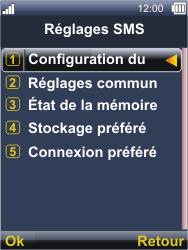 Sonim XP3300 Force - SMS - Configuration manuelle - Étape 6