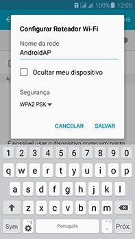 Samsung Galaxy J7 - Wi-Fi - Como usar seu aparelho como um roteador de rede wi-fi - Etapa 8