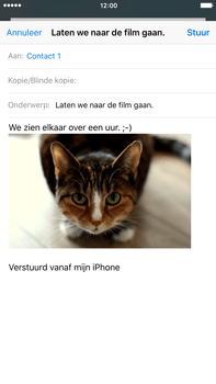 Apple iPhone 6 Plus iOS 9 - E-mail - Hoe te versturen - Stap 14