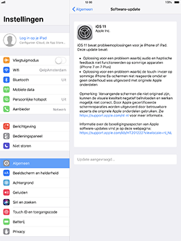 Apple iPad Pro 10.5 inch met iOS 11 (Model A1709) - Software updaten - Update installeren - Stap 5