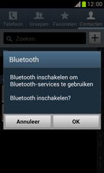 Samsung S7560 Galaxy Trend - Contacten en data - Contacten overzetten via Bluetooth - Stap 10
