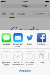 Apple iPhone 4 S iOS 7 - Internet - Navigation sur Internet - Étape 16