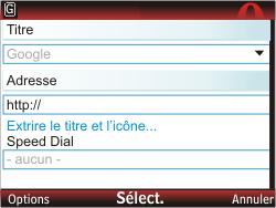 Nokia C3-00 - Internet - Navigation sur Internet - Étape 6
