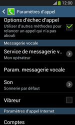 Samsung Galaxy S3 Lite (I8200) - Messagerie vocale - configuration manuelle - Étape 7