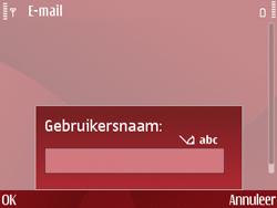 Nokia E63 - E-mail - Handmatig instellen - Stap 14