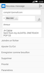 Alcatel Pop S3 (OT-5050X) - E-mail - Envoi d