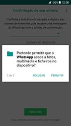 Samsung Galaxy A5 (2017) - Aplicações - Como configurar o WhatsApp -  8