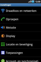 Samsung S5660 Galaxy Gio - Internet - aan- of uitzetten - Stap 4