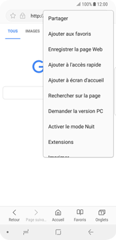 Samsung Galaxy S9 - Internet - Navigation sur Internet - Étape 7