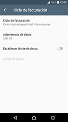 Sony Xperia XZ - Android Nougat - Internet - Ver uso de datos - Paso 6