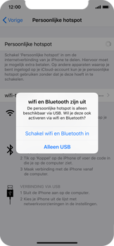 Apple iphone-xs-model-A1920 - WiFi - Mobiele hotspot instellen - Stap 7